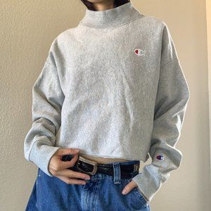 Champion Reverse Weave Turtleneck Crop Sweatshirt